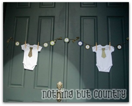 image for baby boy shower ideas for a little man party