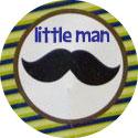 little man mustache baby shower image