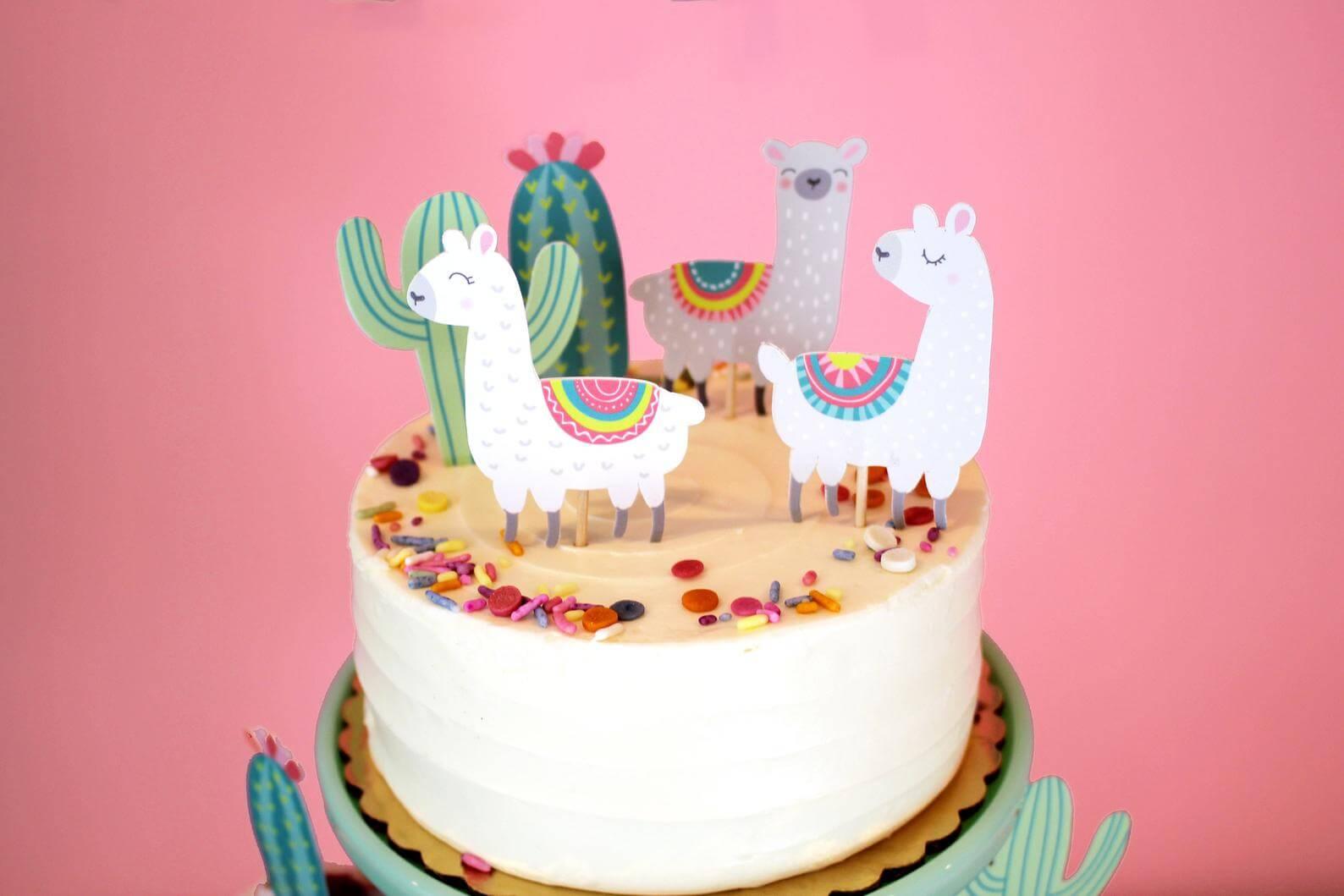 llama party cake ideas