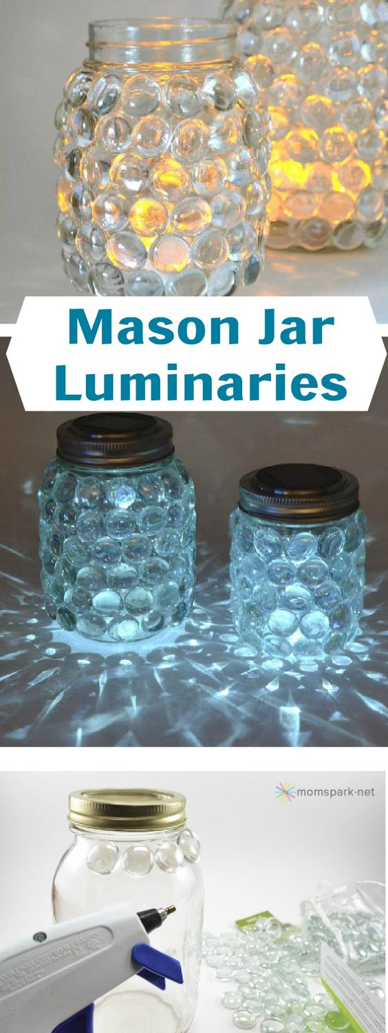 image of DIY luminary mason jars
