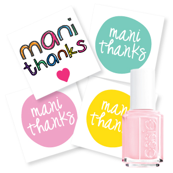image of manicure thank you favor tags