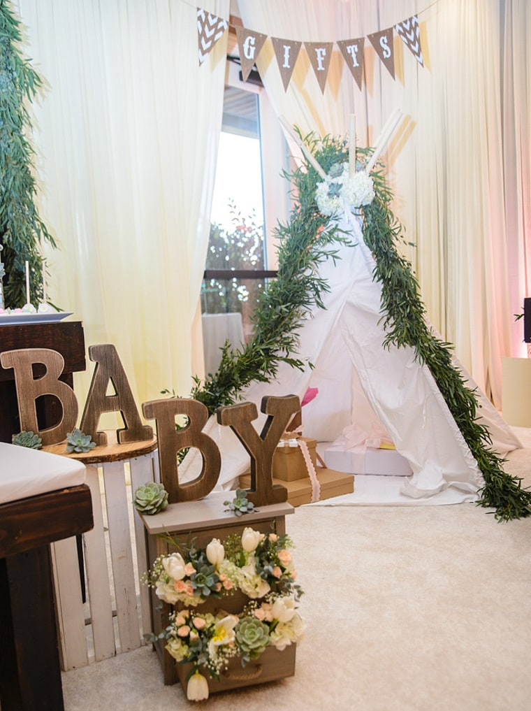 Greenery Baby Shower Decor