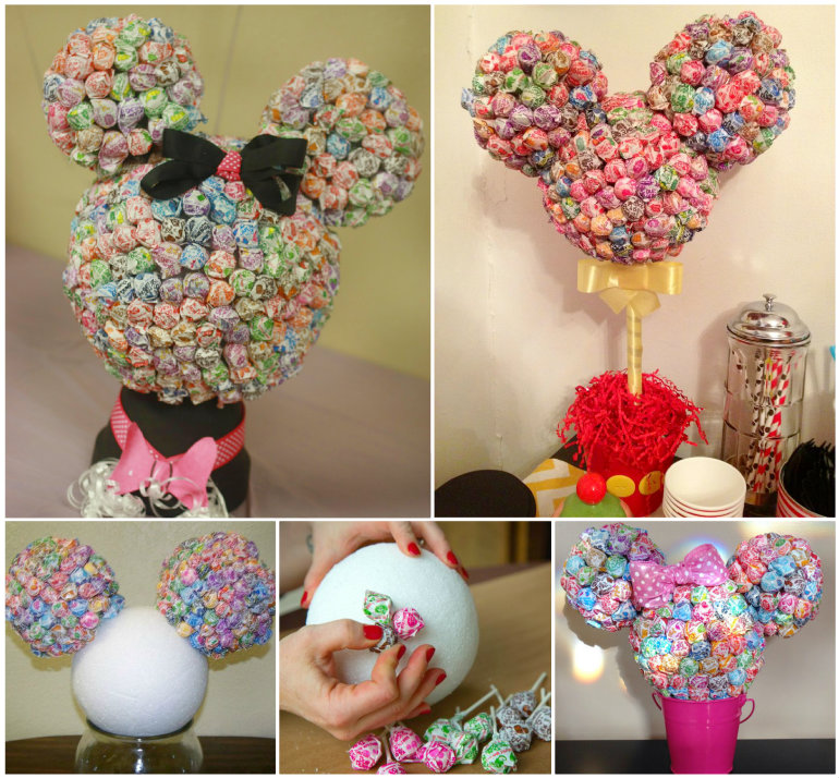 Mickey Mouse Lollipop Tree Decorations