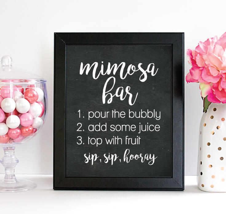 photo relating to Mimosa Bar Sign Printable Free identified as How Toward Fastened Up The Cutest Mimosa Bar For A Get together