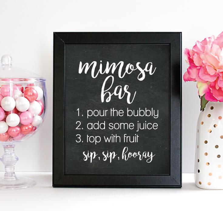 image of mimosa bar sign