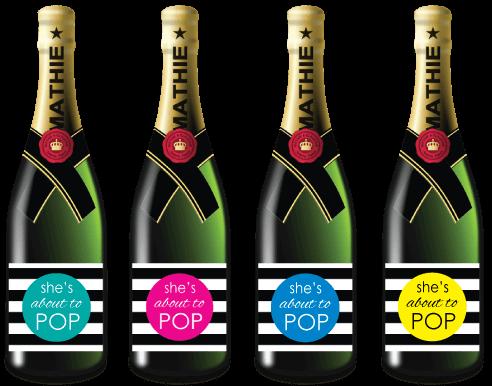 printable mini champagne labels picture