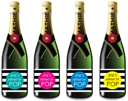 printable mini champagne labels picture