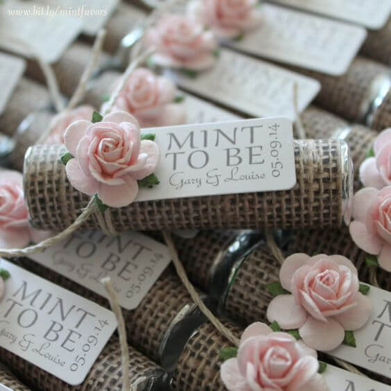 banner of mint to be adoption baby shower favors