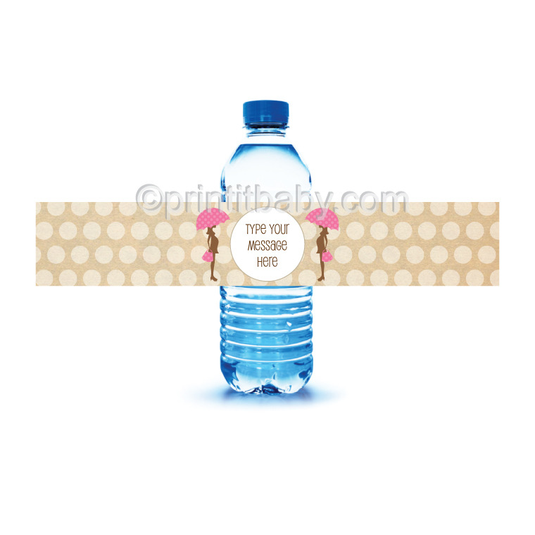 picture of mod mom baby shower water bottle labels