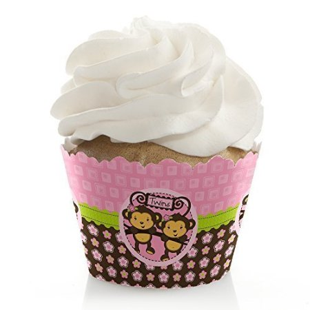 picture of monkey twin cupcake wrappers