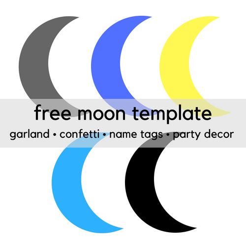 FREE Printable Moon Clip Art