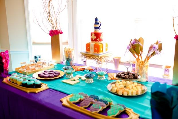 Moroccan baby shower theme ideas