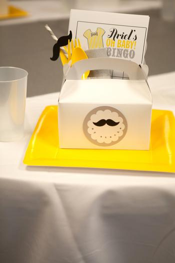 image of a mustache baby shower