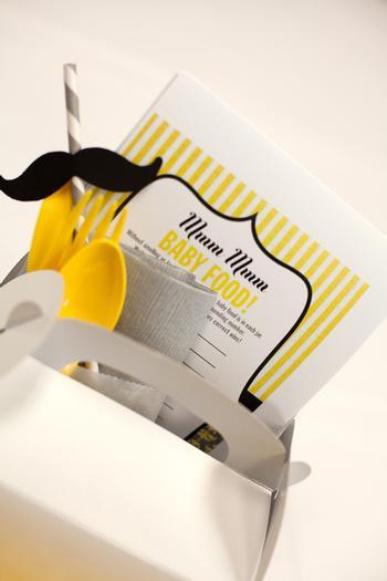 image of mustache baby boy shower ideas