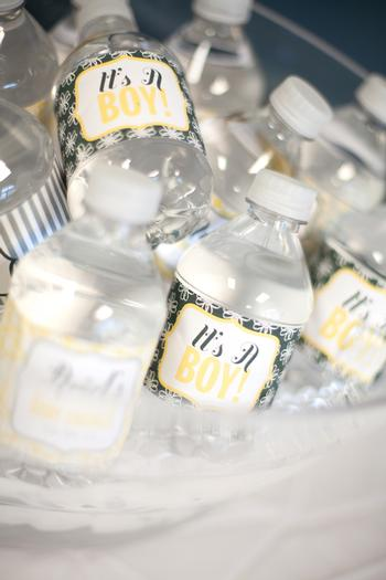 picture for boy baby shower water bottle labels