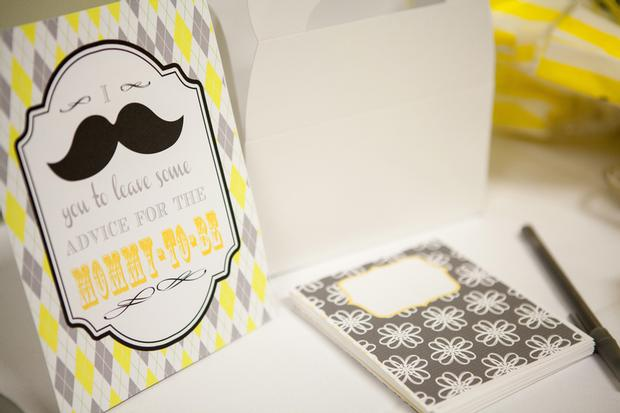 image of mustache baby shower ideas for a baby boy