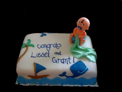 Baby Shower Cakes Katy Texas ~ Nautical baby shower cakes with free printable boat decorations!