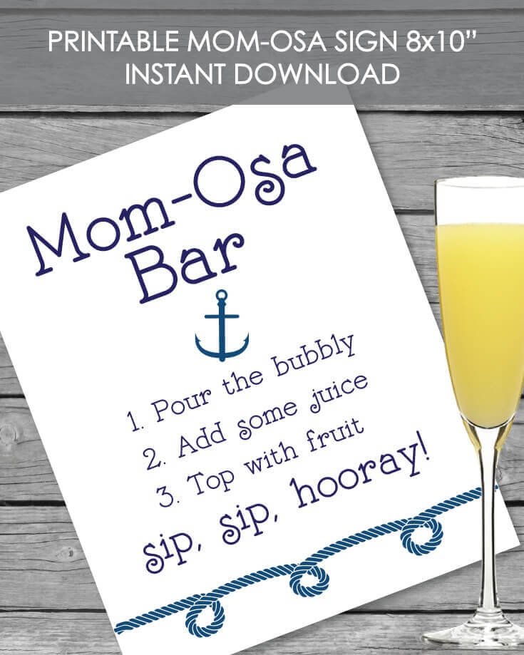 nautical anchor baby shower printables
