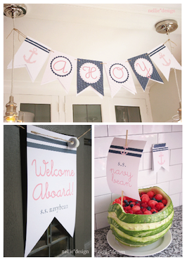 nautical baby shower banner