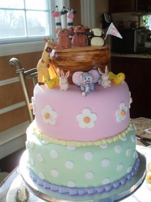 picture of noah ark cake for a girl baby shower