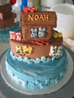 image of noah ark cake for a baby shower