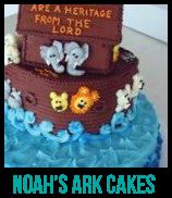 noah's ark baby shower cakes banner