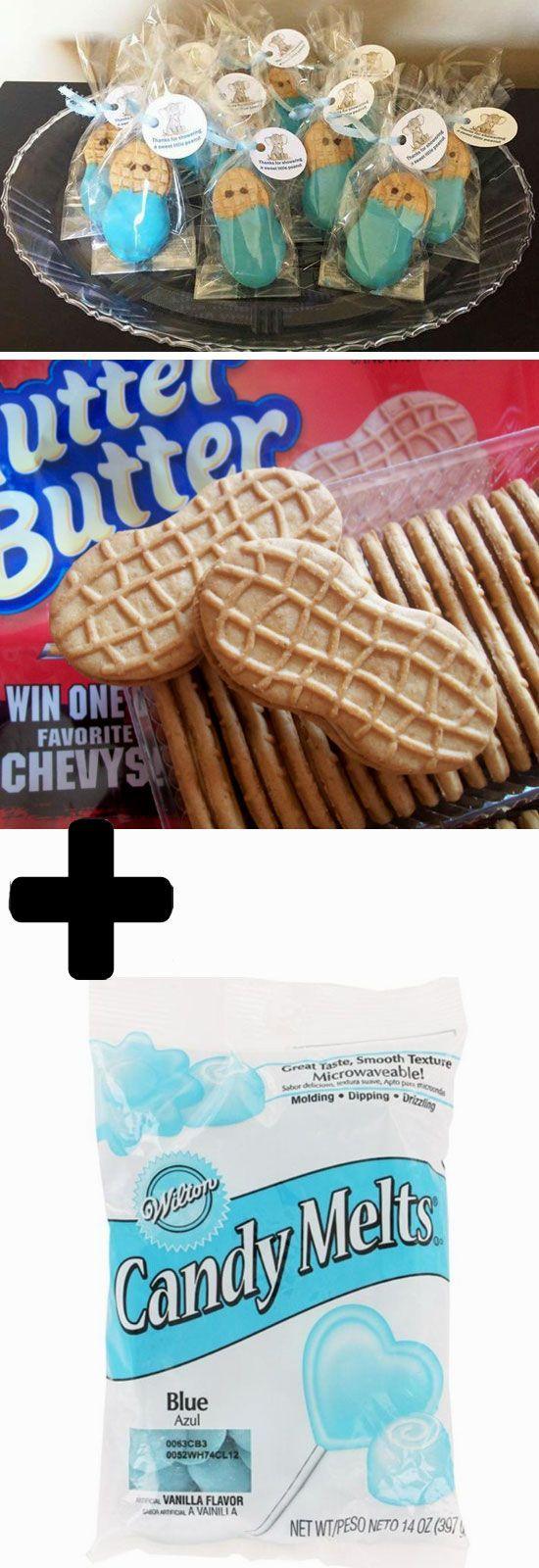image of boy baby shower cookies