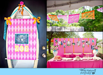 image of pink and orange party ideas