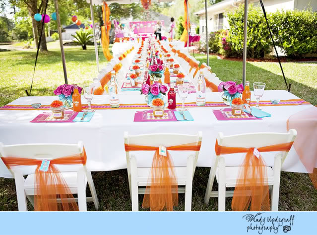 Pink and Orange Baby Shower Ideas and Pictures
