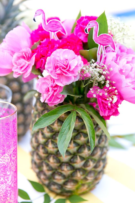 image of Hawaiian baby shower ideas