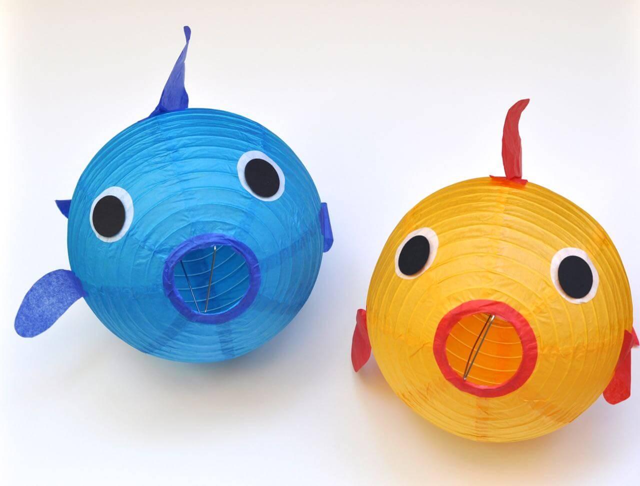 Easy, DIY Paper Lantern Fish