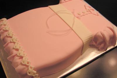 pink baby dress cake picture