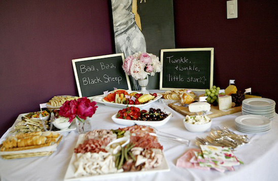 Lavender and pink baby shower