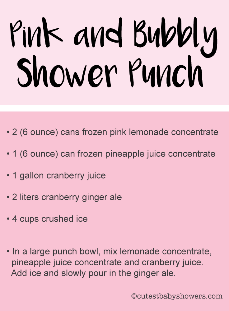 pink lemonade baby shower punch recipe image