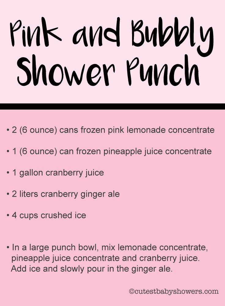 pink lemonade baby shower punch recipe image