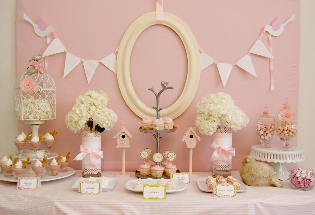 Picture of Cute Pink Birdie Baby Shower Inspiration