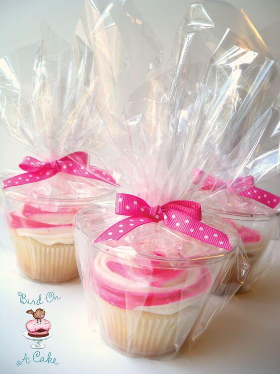 image of baby shower cupcakes in a cup baby shower favors