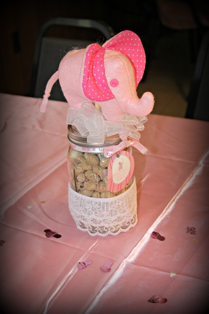 Pink Elephant Baby Shower Ideas