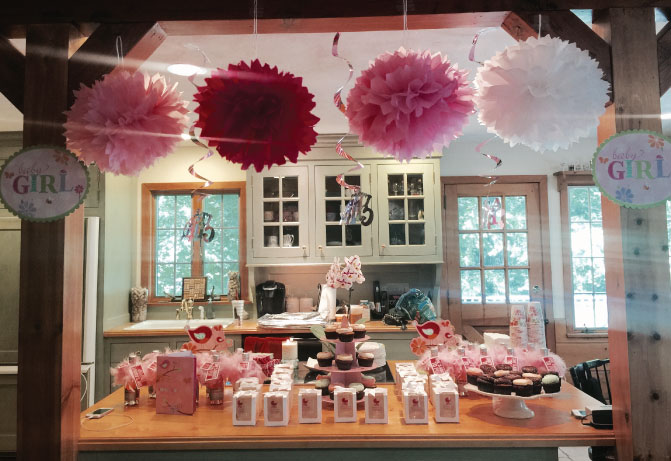 Girl Baby Shower Ideas Using Toile Pretty Pinks Black And White