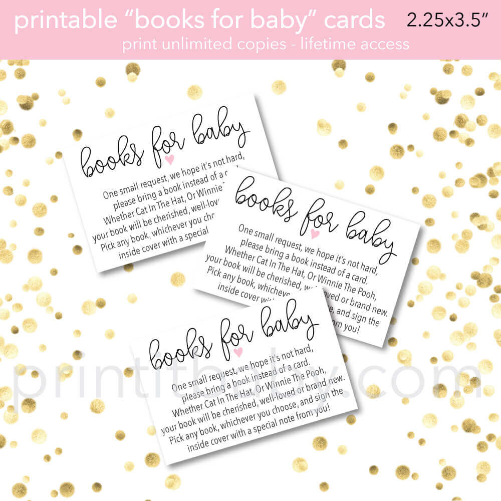 picture relating to Bring a Book Baby Shower Insert Free Printable titled 9 \