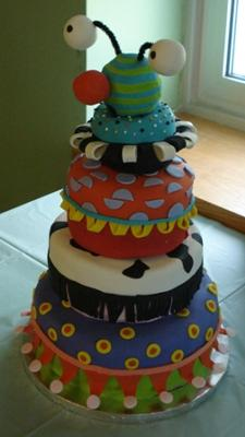Baby Toy Polka Dot Cake picture
