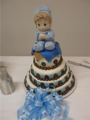 Precious Moments Baby Shower Cake picture