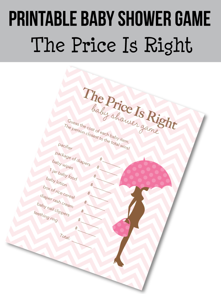 picture of the price is right printable game - pink mod mom theme