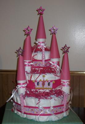 Princess Castle Diaper Cake