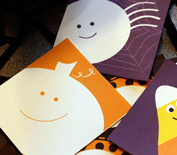 Free printable Halloween baby shower party tags