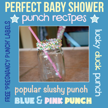 baby shower food ideas baby shower ideas punch