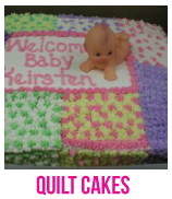 baby shower quilt cakes banner