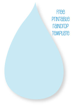 picture of a free printable raindrop template