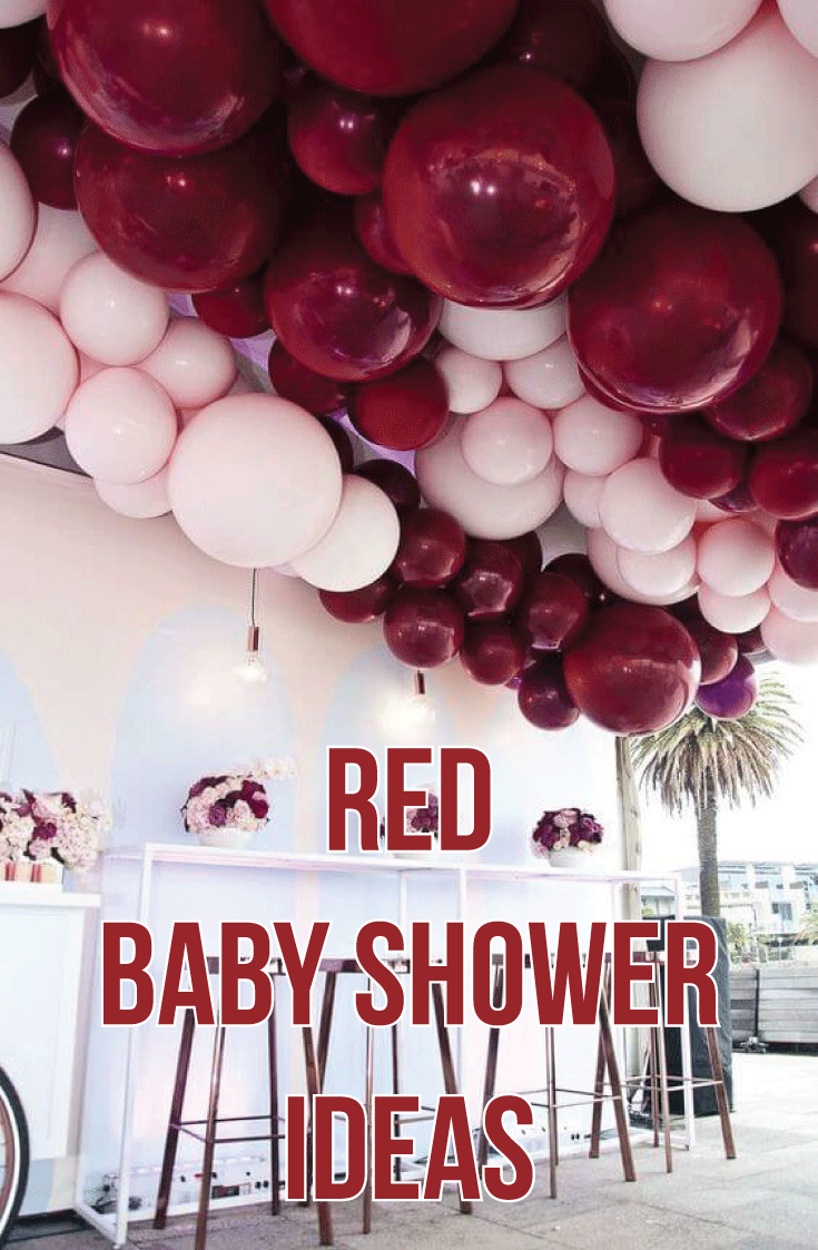 Popular Red Baby Shower Ideas