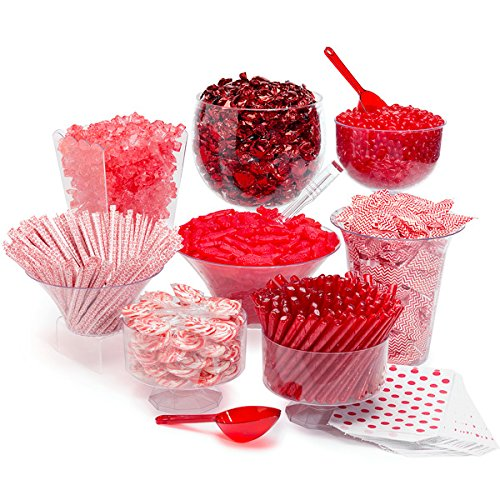 red candy buffet for a baby shower